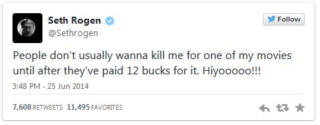 Seth Rogan's Tweet